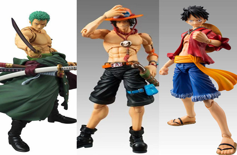 Figura Zoro Ace Luffy One Piece