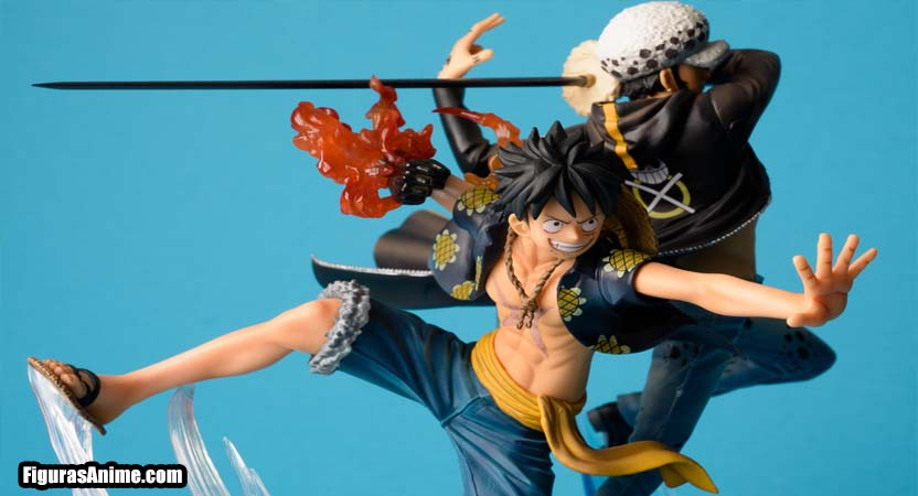 figura luffy y law barata