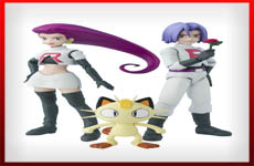 figuras Team Rocket pokemon